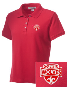 Coupeville High School Wolves Embroidered Women's Performance Plus Pique Polo