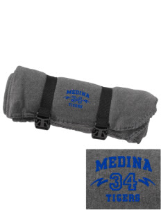 Medina Elementary School Tigers Embroidered Fleece Blanket with Strap