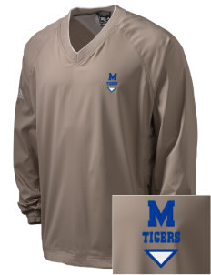 Medina Elementary School Tigers Embroidered adidas Men's ClimaProof V-Neck Wind Shirt