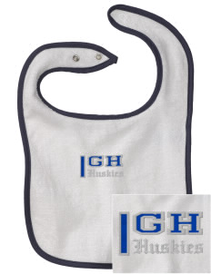 Gregory Heights Elementary School Huskies Embroidered Baby Snap Terry Bib
