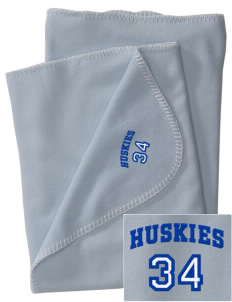 Gregory Heights Elementary School Huskies Embroidered Fleece Receiving Blanket