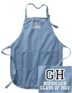 Gregory Heights Elementary School Huskies Embroidered Full-Length Apron with Pockets