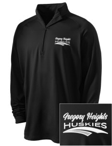 Gregory Heights Elementary School Huskies Embroidered Men's Stretched Half Zip Pullover