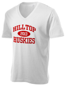 Hilltop Elementary School Huskies Alternative Men's 3.7 oz Basic V-Neck T-Shirt