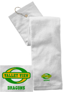 Valley View Elementary School Dragons Embroidered Hand Towel with Grommet
