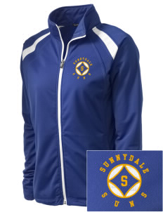 Sunnydale Elementary School Suns Embroidered Women's Tricot Track Jacket