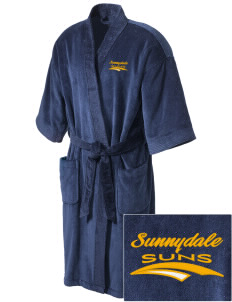 Sunnydale Elementary School Suns Embroidered Terry Velour Robe