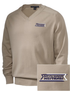 Bryn Mawr Elementary School Mustangs Embroidered Men's V-Neck Sweater