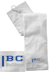 Briar Crest Elementary School Bulldogs Embroidered Hand Towel with Grommet