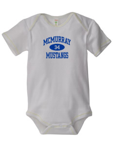 McMurray Middle School Mustangs Baby Zig-Zag Creeper