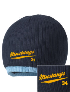 McMurray Middle School Mustangs Embroidered Champion Striped Knit Beanie