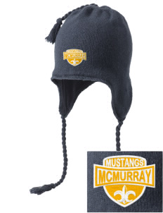 McMurray Middle School Mustangs Embroidered Knit Hat with Earflaps