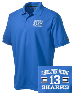 Shelton View Elementary School Sharks Embroidered OGIO Men's Caliber Polo