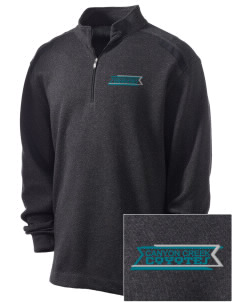 Canyon Creek Elementary School Coyotes Embroidered Nike Men's Golf Heather Cover Up