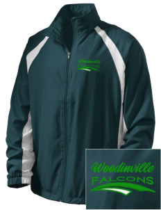 Woodinville High School Falcons  Embroidered Men's Full Zip Warm Up Jacket