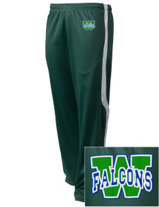 Woodinville High School Falcons Embroidered Holloway Men's Tricotex Warm Up Pants