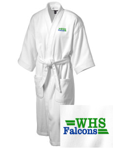 Woodinville High School Falcons Embroidered Terry Velour Robe