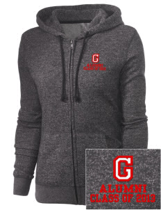Gatzert Elementary School Bears Embroidered Women's Marled Full-Zip Hooded Sweatshirt