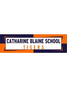 "Catherine Blaine School Tigers Bumper Sticker 11"" x 3"""