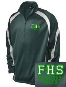 Franklin High School Quakers Embroidered Holloway Men's Tricotex Warm Up Jacket