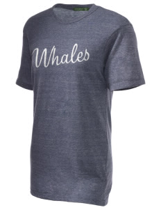 Graham Hill Elementary School Whales Embroidered Alternative Unisex Eco Heather T-Shirt