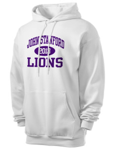John Stanford International School Lions Men's 7.8 oz Lightweight Hooded Sweatshirt