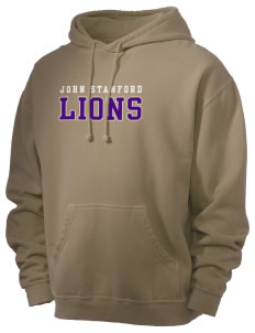 John Stanford International School Lions Men's 80/20 Pigment Dyed Hooded Sweatshirt
