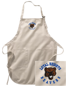 Loyal Heights Elementary School Beavers Embroidered Full-Length Apron with Pockets