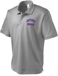 North Beach Elementary School Seals adidas Men's ClimaLite Athletic Polo