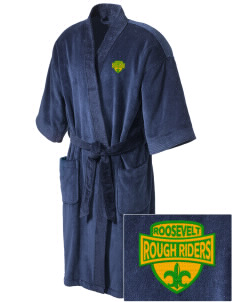 Roosevelt High School Roughriders Embroidered Terry Velour Robe