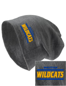 Whittier Elementary School Wildcats Embroidered Slouch Beanie
