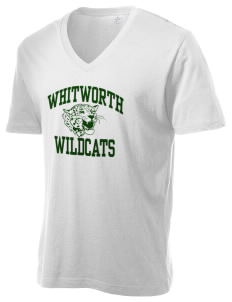 Whitworth Elementary School Wildcats Alternative Men's 3.7 oz Basic V-Neck T-Shirt