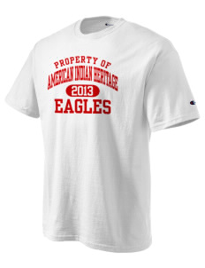 American Indian Heritage School Eagles Champion Men's Tagless T-Shirt