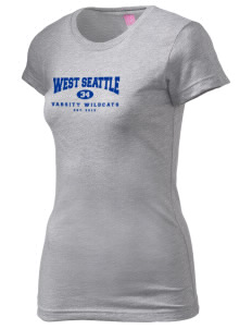 West Seattle High School Wildcats  Juniors' Fine Jersey Longer Length T-Shirt
