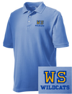 West Seattle High School Wildcats Embroidered Men's Performance Plus Pique Polo