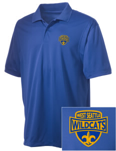 West Seattle High School Wildcats Embroidered Men's Micro Pique Polo