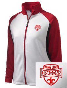 Wing Luke Elementary School Dragons Embroidered Holloway Women's Reaction Tri-Color Jacket