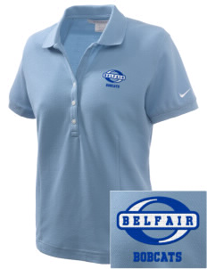 Belfair Elementary School Bobcats Embroidered Nike Women's Pique Golf Polo
