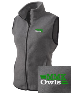 Mary M Knight School Owls Embroidered Women's Fleece Vest