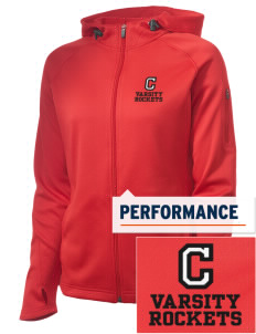 Challenger Middle School Rockets Embroidered Women's Tech Fleece Full-Zip Hooded Jacket