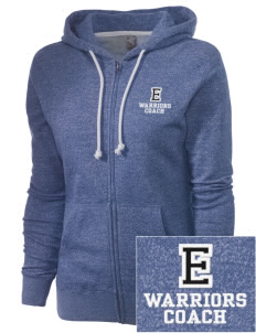 Eatonville Elementary School Warriors Embroidered Women's Marled Full-Zip Hooded Sweatshirt