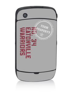 Eatonville Middle School Warriors Black Berry 8530 Curve Skin