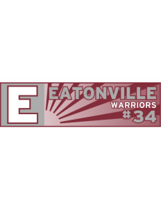 "Eatonville Middle School Warriors Bumper Sticker 11"" x 3"""