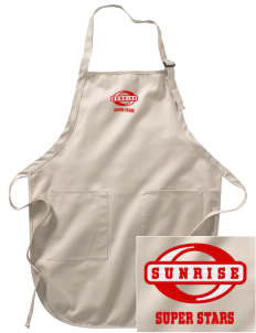 Sunrise Elementary School Super Stars Embroidered Full-Length Apron with Pockets