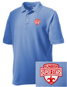 Sunrise Elementary School Super Stars Embroidered Men's Performance Plus Pique Polo