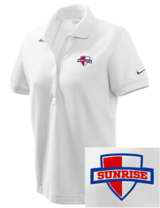 Sunrise Elementary School Super Stars Embroidered Nike Women's Pique Golf Polo