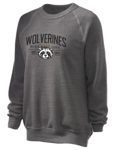Meeker Middle School Wolverines Unisex Alternative Eco-Fleece Raglan Sweatshirt