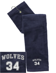 Elk Ridge Elementary School Wolves Embroidered Hand Towel with Grommet