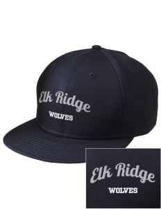 Elk Ridge Elementary School Wolves  Embroidered New Era Flat Bill Snapback Cap