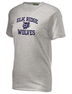 Elk Ridge Elementary School Wolves Alternative Unisex Eco Heather T-Shirt